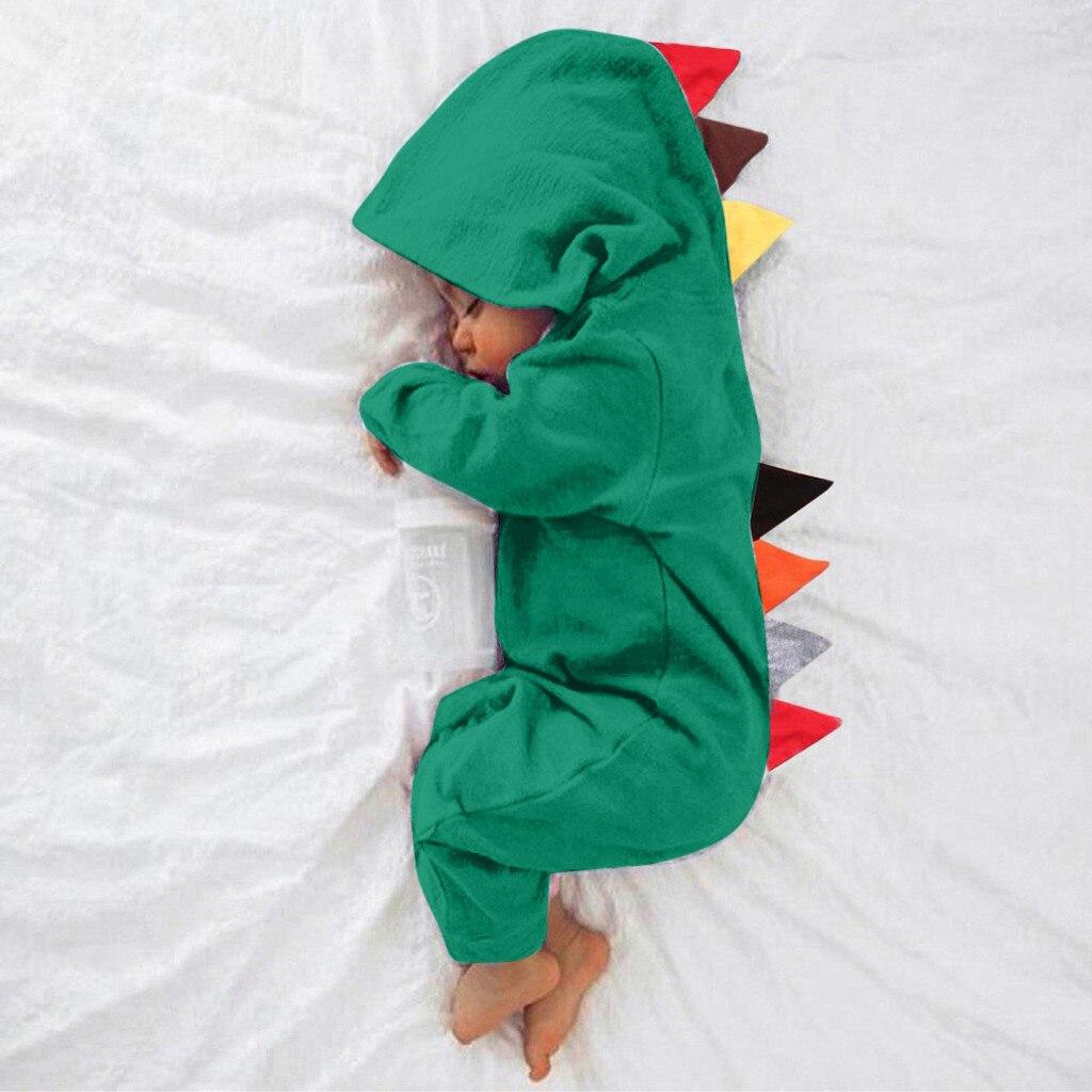 Одежда для новорожденных; Детский Комбинезончик для новорожденных динозавра для мальчиков и девочек, ночное белье, одежда Стиль комбинезон...