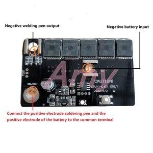 Image 2 - Spot schweißen maschine zubehör schweißen stift vollen satz von zubehör DIY tragbare 12V batterie energie lagerung spot schweißen machin