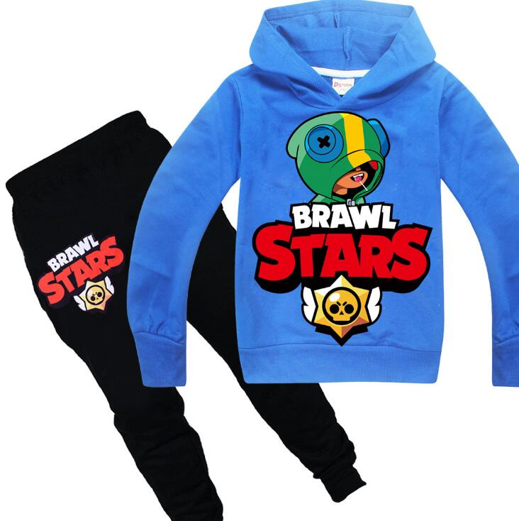 Brawl 2020 Hot Game Cartoon Kids Tracksuit Boys Clothes Set Hoodies and Pants Teenage Sportwear Clothing Sport Suit for Girl