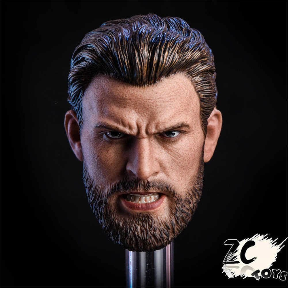 1/6 Scale ZCTOYS Captain America  Head Sculpt Head Carved Head Model For 12 Inches Action Figures Body Accessories