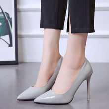 High Heels Women's Wedding Shoes Woman 2020 Autumn Pointed Toe Fine With Wild Shallow Mouth Single Shoes Female Zapatos De Mujer cinderella slipper shallow mouth high heels bridal shoes diamond wedding shoes fine with pointed shoes