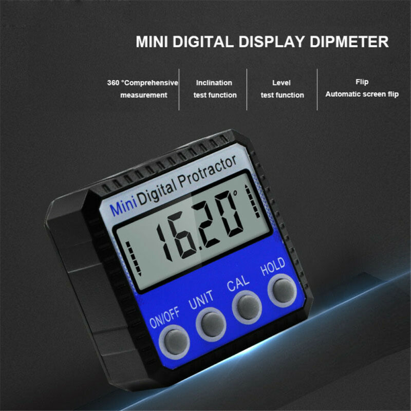 LCD Digital Protractor Angle Meter Finder Gauge Level Magnetic Inclinometer US