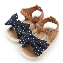 Baby Girls Woven Sandals Shoe Cute Lace Bow Casual
