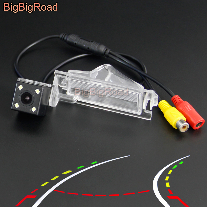 BigBigRoad Car Intelligent Track Rear View Camera For Dodge Grand Caravan 2008-2018 Mk5 Journey JC / JCUV For Fiat Freemont