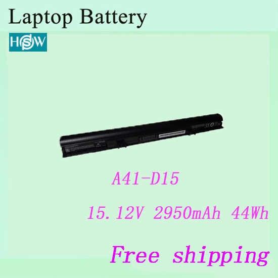 100% Thương hiệu Mới A41-D15 Pin Dành Cho laptop Dành Cho Medion Akoya E6416, P6659, E6424, P6657, ERAZER P6661 pin miễn phí vận chuyển