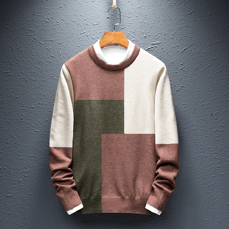 Sweater Men's Round Neck Korean Version Of The Bottoming Shirt Men's Thick Autumn And Winter Men's Sweater