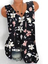 Fashion printing large size women's T-shirt V-neck sleeveless lace vest ladies T-shirt tops women
