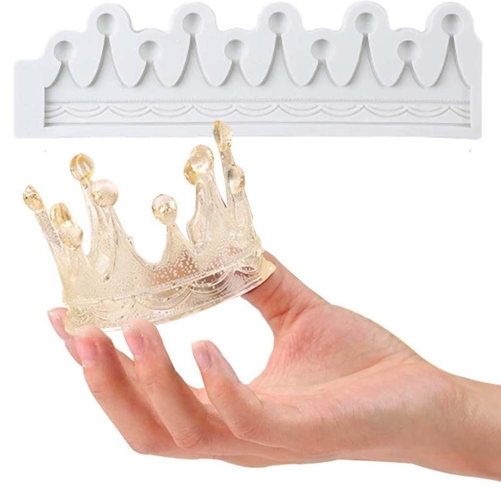 Forma da coroa moldes de silicone fondant 3d molde de chocolate sugarcraft doces molde mousse bolo ferramentas de decoração