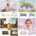 Фон для фотосъемки новорожденных детей, студийная фотосессия, реквизит для вечеринки в честь Дня Рождения Ребенка