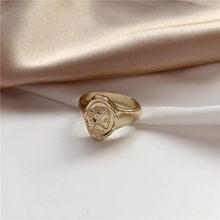 Женское геометрическое кольцо, кольцо из сплава с геометрическим рисунком