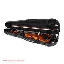Высококачественный полноразмерный жесткий чехол из углеродного волокна для скрипки встроенный гигрометр для 4/4 скрипок скрипка струнные части инструмента
