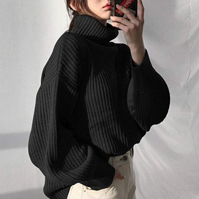Grey Color  Knitwear Patchwork Striped Knitted Pullover Swetry Damskie Pull Femme