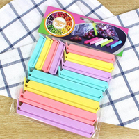 12 teile/paket Heißer Verkauf Nützlich Versiegelung Clamp Kunststoff Werkzeug Neue Tragbare Küche Lagerung Lebensmittel Snack Dichtung Abdichtung Tasche Clips