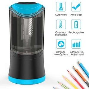 Image 4 - Taille crayons électrique avec lame hélicoïdale Durable, affûteuse rapide, arrêt automatique, Rechargeable par USB, pour 6 12mm de diamètre