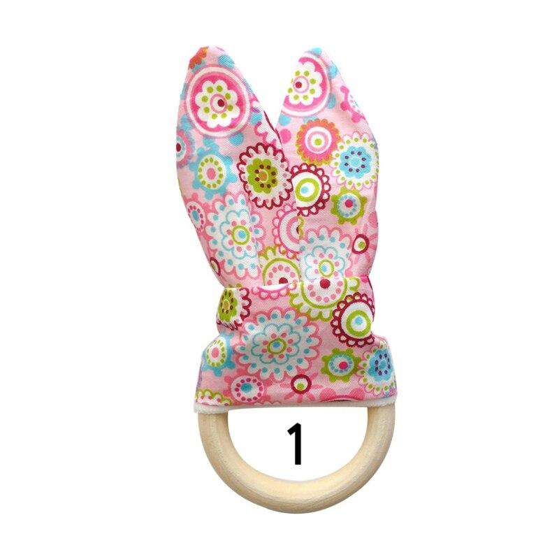Милый детский Прорезыватель деревянное кольцо зубное кольцо детский прорезыватель зуб упражняющая игрушка - Цвет: A