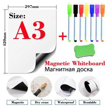 A3 rozmiar sprzęt edukacyjny tablica magnetyczna małe łatwe wymazywanie białe tablice naklejki na lodówkę szkoła tablica ogłoszeń artykuły papiernicze