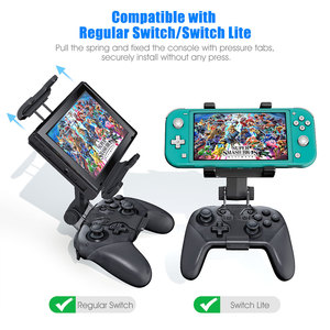 Image 4 - Switch Pro Controller Clip Mount Holder Pro Controller Adjustable Clamp Handle Rotate Bracket for Nintend Switch/ Lite Console