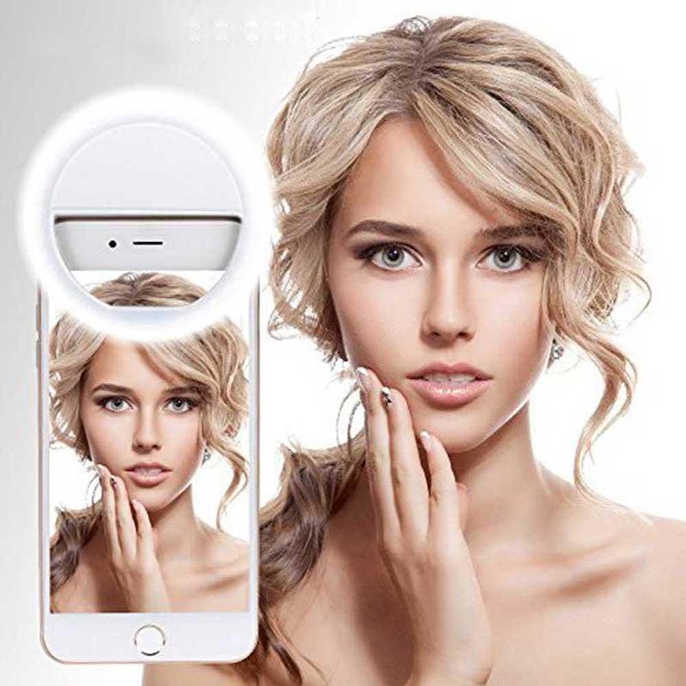 Rainwayer USB Charge LED Selfie Ring Light for Iphone Supplementary Lighting Selfie Enhancing Fill Light For Phones A2