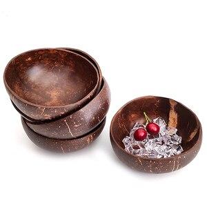 Натуральная чашка в виде кокоса украшение фруктовый салат лапша, рис чаша деревянная чаша для фруктов украшение ручной работы креативная м...