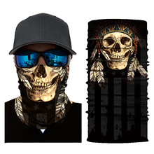 Scarf Bandana Foulard Balaclava Face-Shield Neck-Cover Biker Ghost Motorcycle Skull-Mask