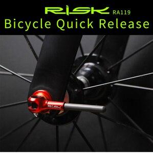 Image 2 - チタン ti 串 qr マウンテンバイクのクイックリリース串レバー mtb 自転車サイクリングハブロードバイクのクイックリリース mtb パーツ