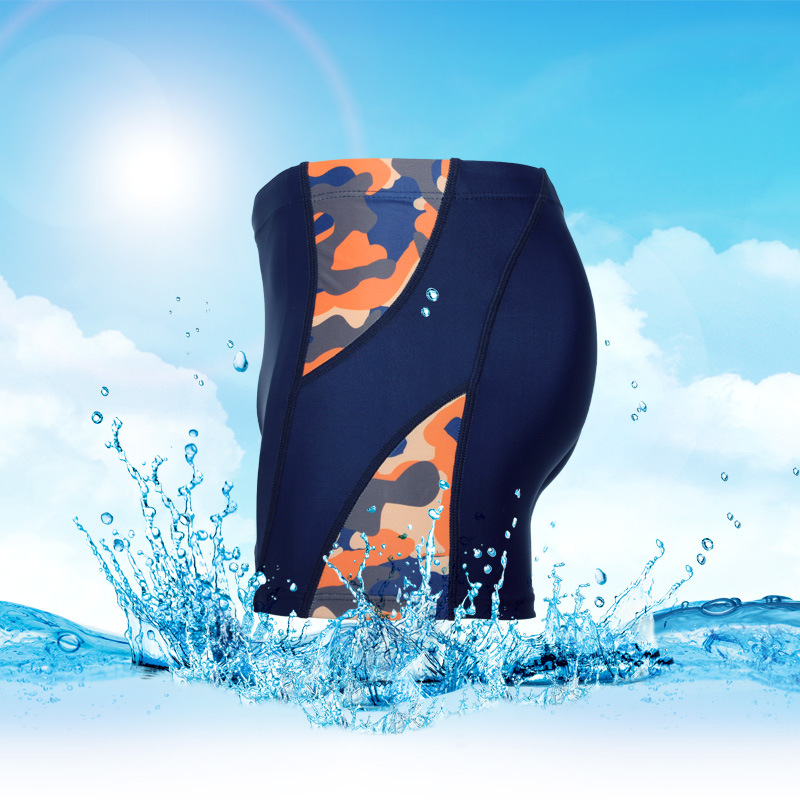 Qian Shuo Camouflage Joint New Style Hot Springs Beach Korean-style-Mixed Colors Men Boxer Swimming Trunks Clothing Quick-Dry Xi