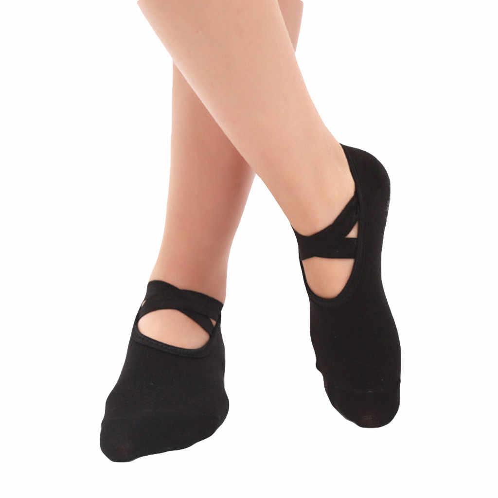 Anti SLIP โยคะถุงเท้าผู้หญิงกีฬาบัลเล่ต์เต้นรำถุงเท้าสีรองเท้า Meias Barefoot Breathable เหงื่อ SOFT SOX Sleep ถุงเท้า