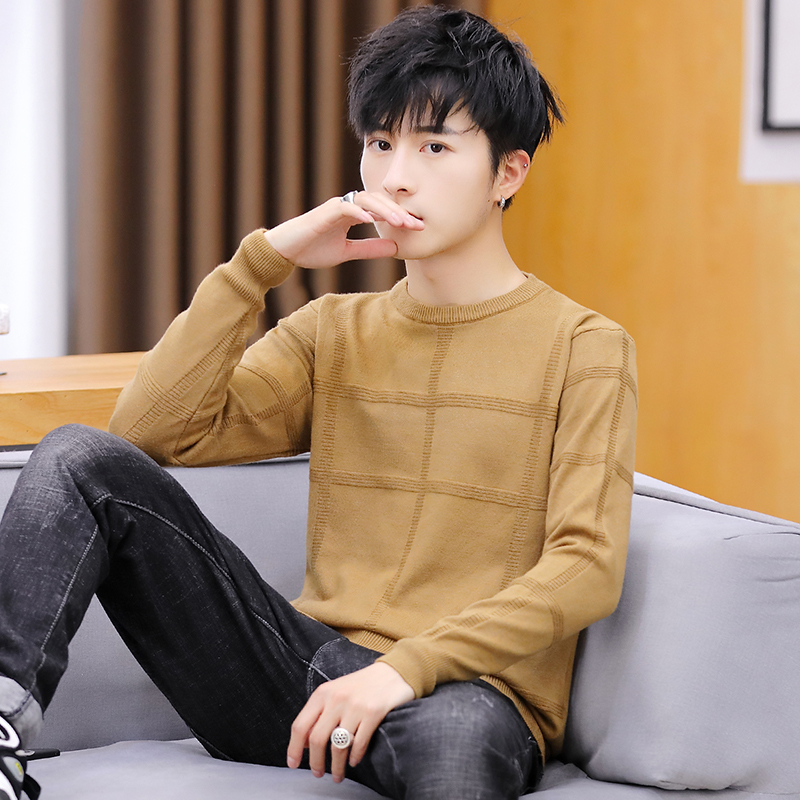 Winter 2019 New Men's Thickened Round - Neck Sweater Men's Sweater Clothes.