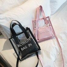 Korean Style Fashion Bags/Ladies Luxury Bags/Woman's Handbag/Transparent Jelly Bag Women Crossbody Bag Black стоимость