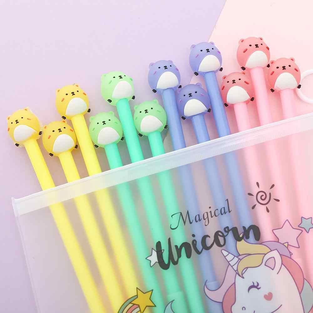 3 Pcs Set Cute Fruit Gel Pen Plush Neutral Pen Stationery School Bed