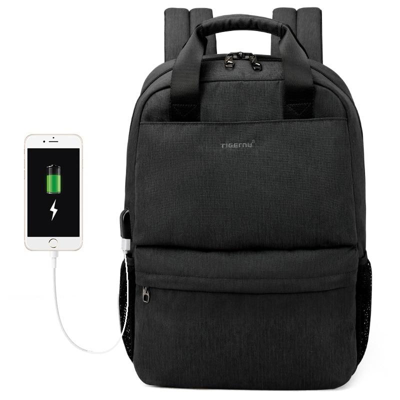 Sac à dos d'affaires décontracté 15.6 pouces sac d'ordinateur portable sac de voyage sac à dos sûr antivol packbag