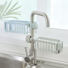 Useful Kitchen Sponge Sink Faucet Soap Cloth Drain Rack Storage Organizer Holder Shelf Basket Wash Tools