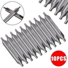 10 pçs pçs/set 60 graus de alta velocidade de aço escarpadores 2.5mm centro broca combinado brocas para furo usinagem reduz o erro