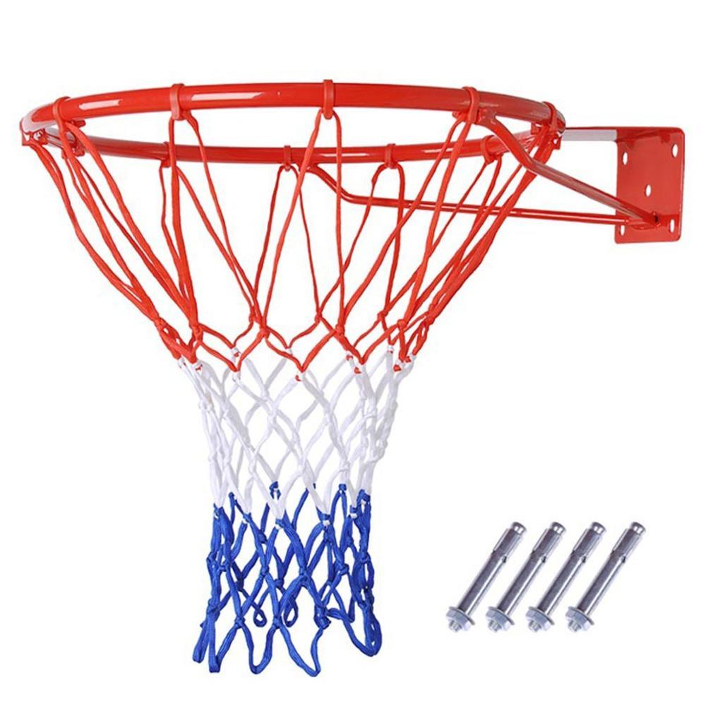 Баскетбольный обод с кольцом-кольцом в виде сетчатого мяча, ободок, подставка, задняя доска, корзина для взрослых и детей, полностью твердый ...