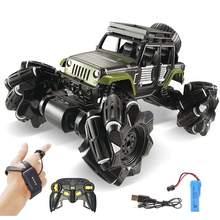 Alloy RC Car 1/16 2.4Ghz 4CH Stunt Drift Crawler Dual Remote Control Car 360 Degree Flip Vehicle Climbing Car Children Toys