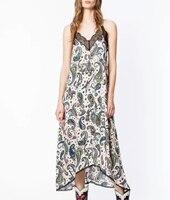 Women Dress 100% Viscose Cashew Printed Halter Dress Summer Holiday Dress Lace French Romantic Paisley Print Midi Dress