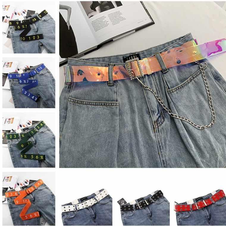 Dubbele Grommet Gat Gesp Riem Brede Canvas Web Riem Vrouwelijke Mannelijke Taille Riem Riemen Voor Vrouwen Mannen Jeans
