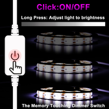 Dimmer Touch Switch LED Light Strip USB 5V Cabinet 1M 2M 3M 4M 5M White/Warm Indoor/Outdoor SMD 2835 Led Waterproof
