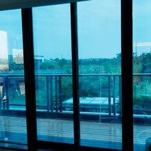 Серебристая и синяя оконная пленка, защита от солнца, защита от солнца, декоративный оттенок, одностороннее зеркало, стекло, анти ультрафиолетовые со статическим зажимом, контроль тепла 76 см x 30 м