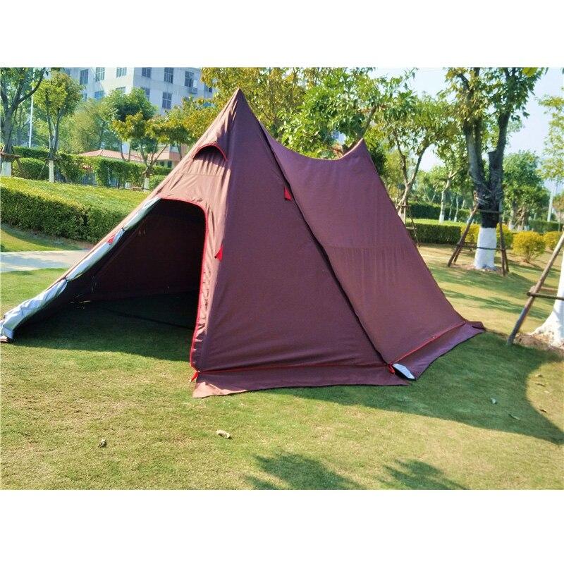 7.2m * 4m * 2.1m Ultralarge nouveau Style imperméable coupe-vent Camping famille fête tente