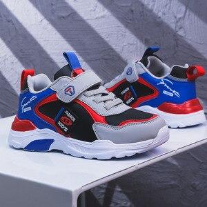 Image 1 - 子供の靴 boys ガールズ 2020 春新スタイルベルクロ スタイル革のファッション子供のスポーツの靴ホット販売スニーカー