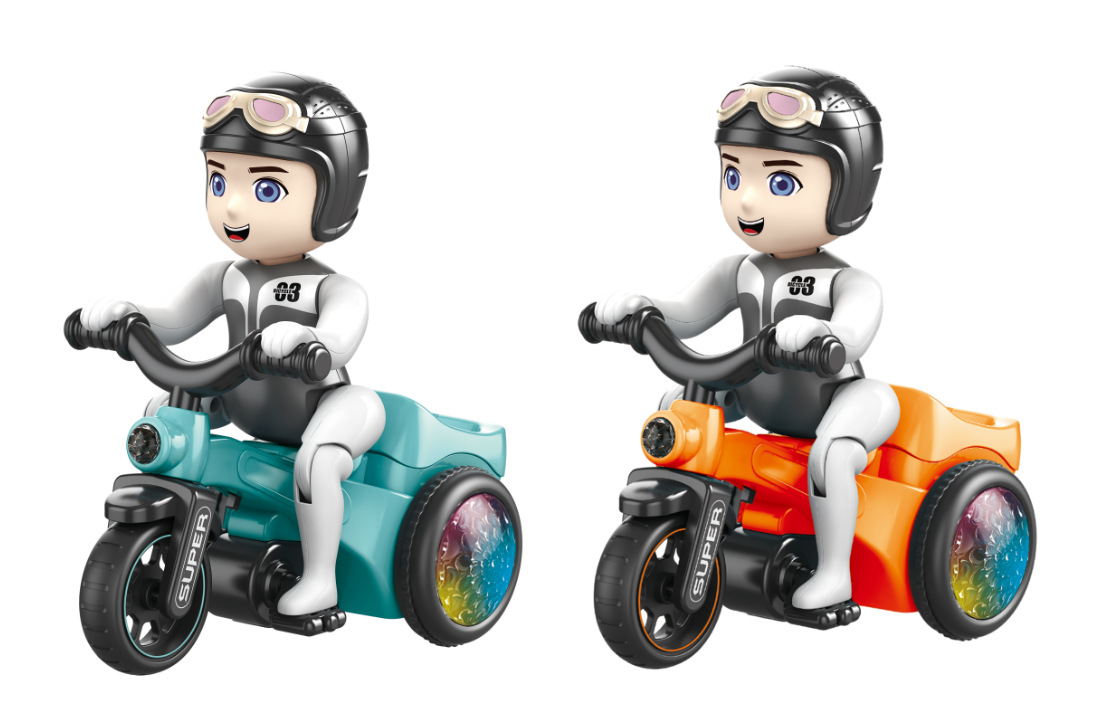 Douyin Celebrity Style Stunt Tricycle Motorcycle Boy Children'S Educational Lights Music Stunt Toy Dump Truck Gift