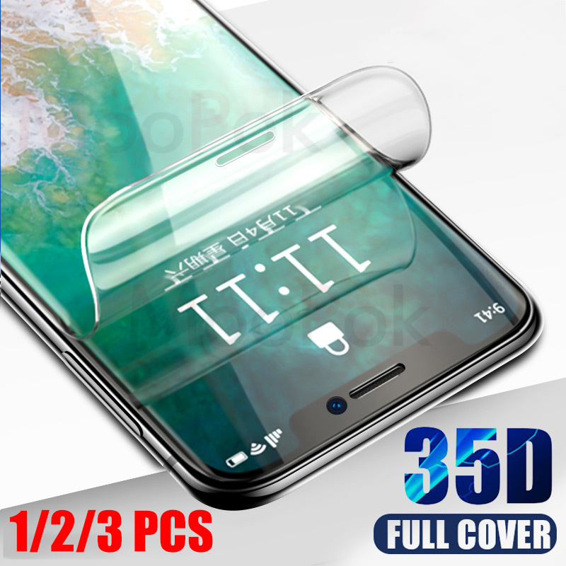 35D Hydrogel Film For iPhone 7 8 Plus 6 6s Plus Screen Protector iPhone X XS XR XS Max 11 Pro Max Soft Protective Film 1