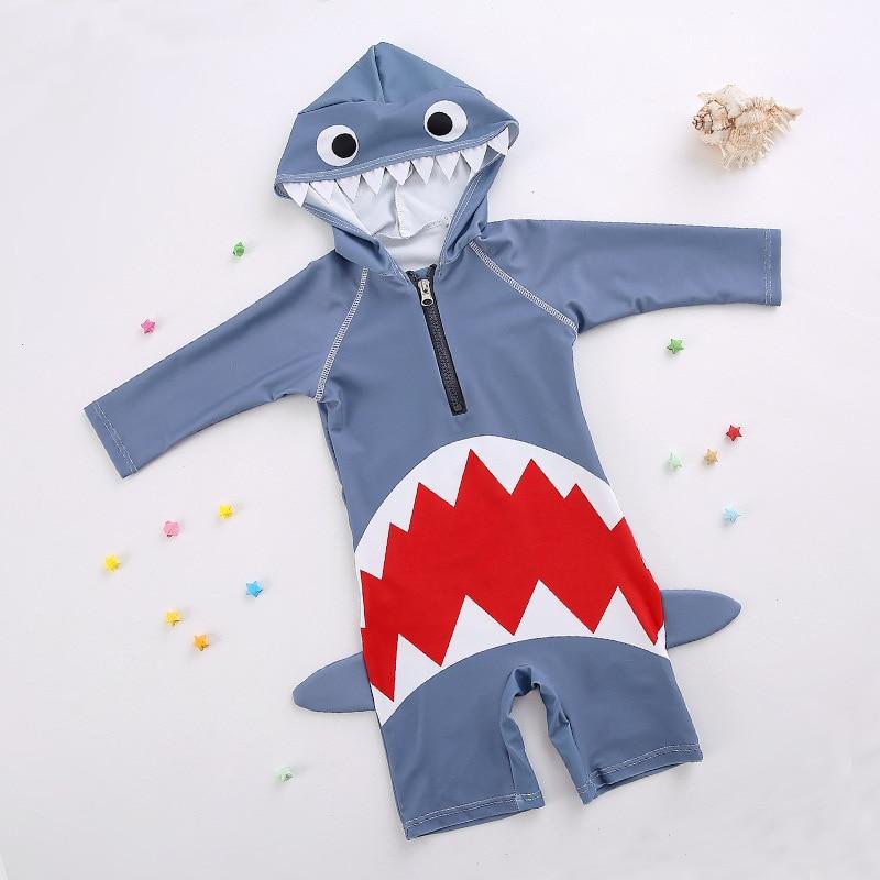 South Korea One-piece Swimsuit For Children Cute Cartoon Men And Women Children Small CHILDREN'S Children Baby Holiday Sun-resis