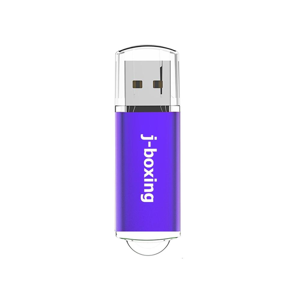 J-boxing USB Flash 16GB Pen Drive Rectangle USB Memory Stick Flash Pendrive Thumb Storage For PC Laptop Mac Tablet Gift Purple