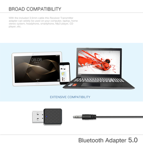 Image 5 - 5.0 Bluetooth Transmitter Receiver Mini 3.5mm AUX Stereo Wireless Bluetooth Adapter For Car Music Bluetooth Transmitter For TV