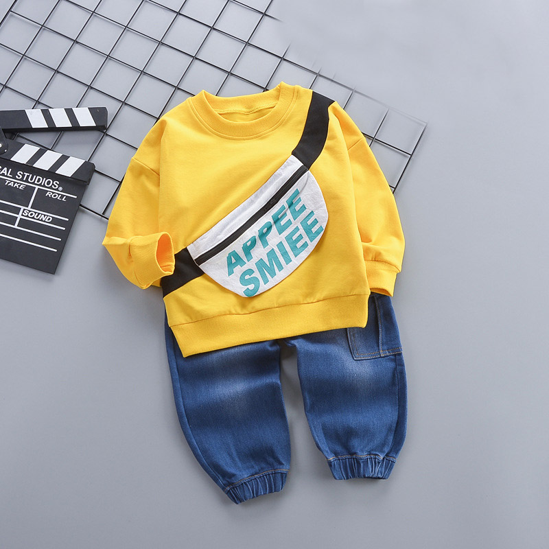 Newborn Clothes 2019 Autumn Winter Baby Boys Clothes Sets T-shirt+Pant Outfits 2pcs Casual Baby Boys Sport Suit Infant Clothing