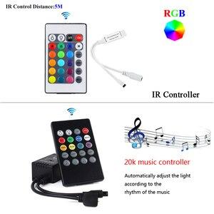 Image 4 - WIFI RGB LED RGBW Controller IR รีโมทคอนโทรลแบตเตอรี่สำหรับ DC 12V RGB 2835 5050 LED Strip โมดูลไฟ LED light