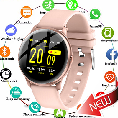2019 Fashion Sports Smart Watch Men Women Fitness tracker man Heart rate monitor Blood pressure function smartwatch For iPhone in Digital Watches from Watches