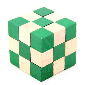 IQ Puzzle Wooden Dragon Tail Magic Cube Snake Shape Toys Game Twist Cube Toys Gift for Kids Adult Intelligence Brain Teaser(China)